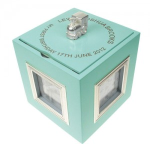 Baby Boy First Birthday Musical Keep Sake Box