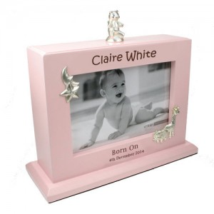 Personalised Baby Girl Photoframe and Album Laser Engraved